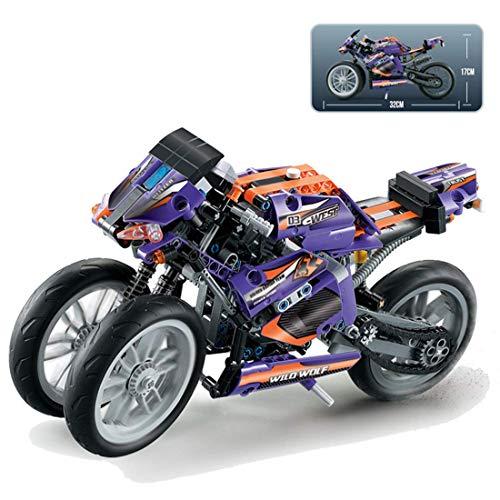 CYGG Conjunto de Edificios de Motocicletas técnicas, Modelo de Moto Coleccionable, Bloque de construcción de 485 Piezas Compatible con Lego