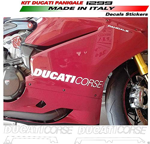 Vulturbike Aufkleber Ducati Corse Seitenteile 1299 Panigale Look Version R - Rot