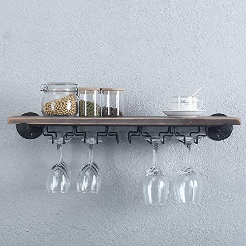 JHGJBJ Weinregal Holz Wandhalterung Rotwein Restaurant Dekoration Weinglas Rack Goblet Halter (Size : 91x25cm)