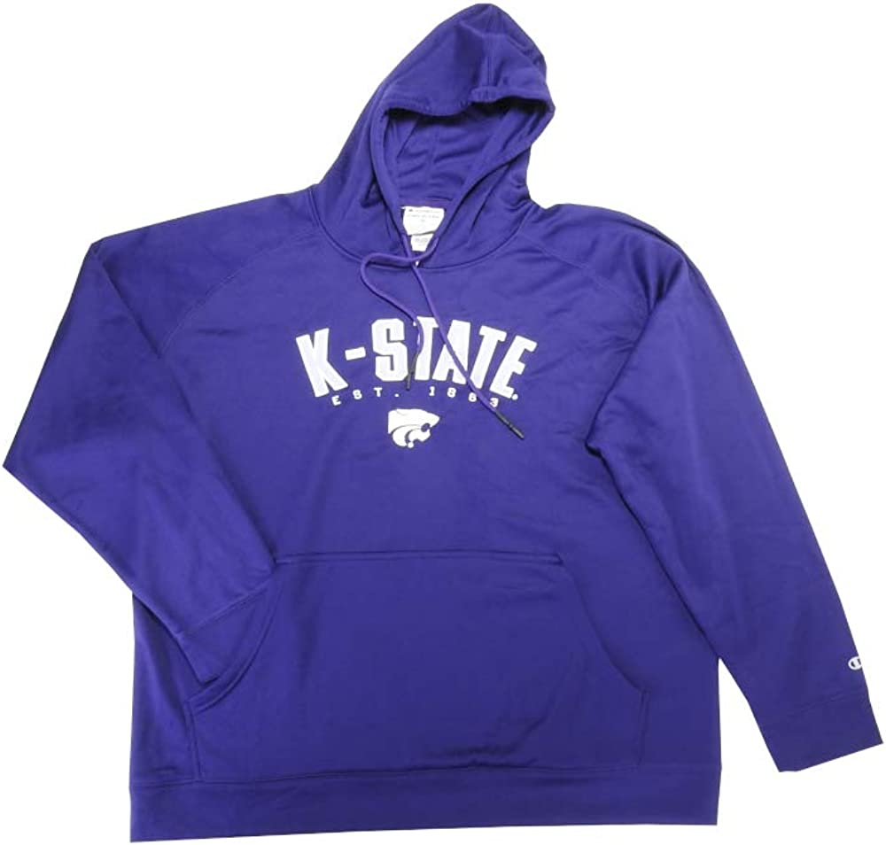 Knights Apparel Inc. Champion Mens K-State Long Sleeve Pullover Hoodie, Purple