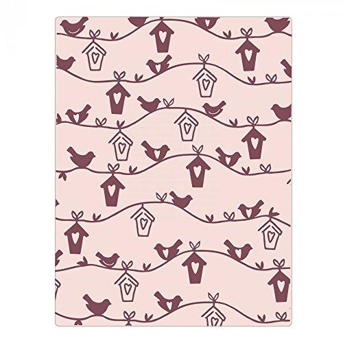 Sizzix Vogelhuisje van Samantha Barnett Dief reliëfmap, plastic, meerkleurig, 16,5 x 12 x 0,4 cm