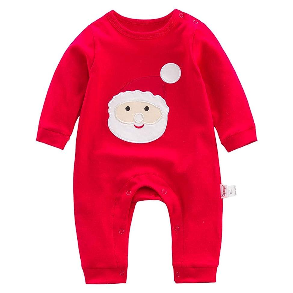 アノイ野菜狂信者Mum&nny クリスマス衣装 ベビー服 長袖 カバーオール ロンパース ベビーウェア 男の子 女の子 プレゼント 祝い サイズ73 赤のサンタクロース