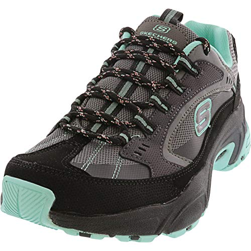Skechers Women's Stamina Lower Creek Cross Training Black/Mint 9