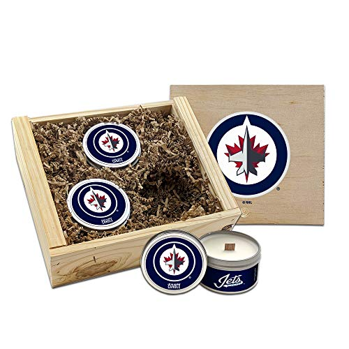 Worthy Promo NHL Scented Candles Gift Set in Wood Box (Winnipeg Jets)