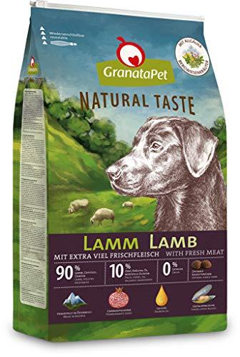 GranataPet Natural Taste Lamm, Trockenfutter für Hunde, Hundefutter ohne Getreide & ohne Zuckerzusätze, Alleinfuttermittel für ausgewachsene Hunde, 12 kg, 192590