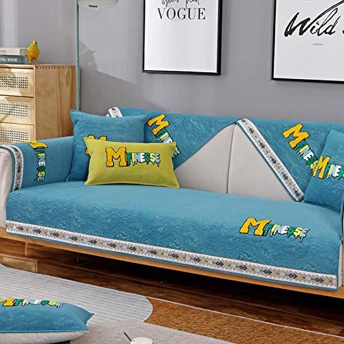 Suuki Fundas de Sofa,Cojín para Sofá,Funda de sofá de salón Suave y cálida,Funda de sofá de Felpa de Invierno,Protector de sofá seccional de Tela combinada,Fundas de reposabrazos,decoración del hoga