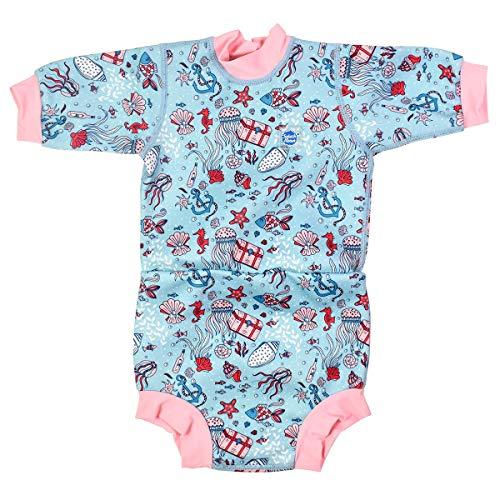 Splash About Happy Nappy Neoprenanzug mit Schwimmwindel, Unisex Baby, Baby- und Kleinkind-Schwimmwindel, HNWHTM, Versteckter Schatz, 3-9 Monate