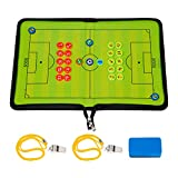 <span class='highlight'><span class='highlight'>BizoeRade</span></span> Football Coaching Board, Foldable Coaches Tactical Board Zipper-closure, Portable Tactic Board