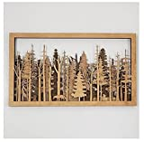 The Wide Woods, 7-Layer Wall Art Forest Mysterious Forest Scene Wooden Art Decor, Wood Carved Wall Plaque, Birch Trees Nature Woods Wall Hanging for Home Office Living Room Bedroom Decor