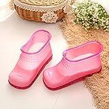 Massage Foot Bath Shoes,Spa Portable Foot Massage Bath Shoes Bucket Boots Promote Blood Circulation 1 Pair (Blue/Pink)