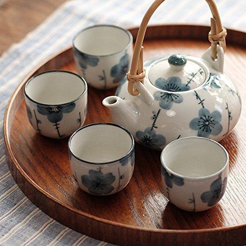 Xiduobao - Set da tè in porcellana Kungfu bianca stile giapponese, verde, da casa/ufficio/viaggio.
