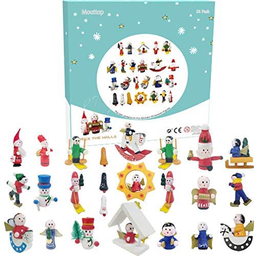 Christmas Advent Kalender Einzigartiger Stil 24 -Ornament Figuren Amusing Christmas Countdown Fun Learning for Kids Believe in The Magic of Christmas