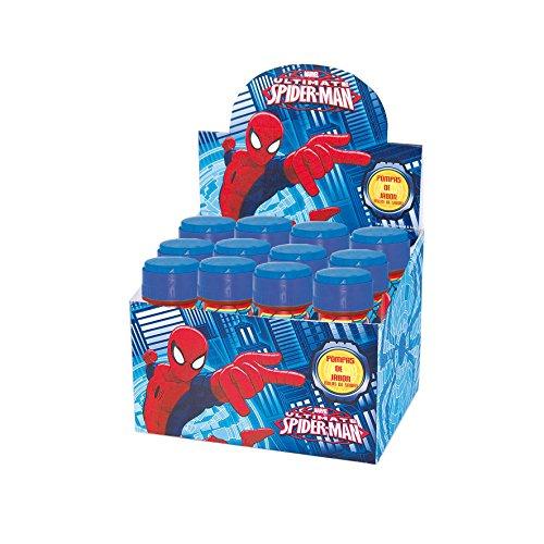 Pack, 12 Pomperos Spiderman, Pompas De Jabón Spiderman