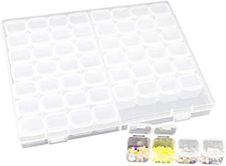 ZHANGLI Diamond Storage Box Plastic Organizer Case, 56 Grids Non Toxic Makeup Craft Storage Box, Portable Diamond Painting...