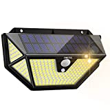 Luz Solar Exterior, OMERIL 286 LED 2600 Lumens Focos LED Exterior Solares con Sensor de Movimiento, Impermeable Súper Brillante 270º Illumination Exterior Solar para Exterior Jardín...
