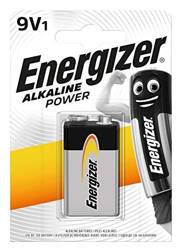 Oferta de Energizer ERG9V P.Alka.6LR-61 (6F22), Unisex, Negro, Plata, Paquete de 1