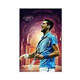 Tennis-Sport-Poster Novak Djokovic 5, Leinwand-Poster,