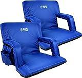 Brawntide Portable Stadium Seat Chair - Extra Thick Padding, Adjustable Bleacher...