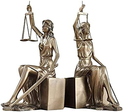 Amazon Com Book Ends Lady Justice Bookend Book Ends For Office Home Bookshelf Decoration Bookends Bookends For Heavy Books Unique Bookends Decorative Bookends Color Gold Size 2613 511cm Home Kitchen