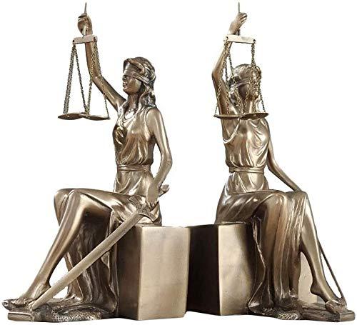 HIZLJJ Señora Escalas de Justicia Estatua