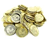 Funiverse Bulk 500 Play Plastic Gold Coin Jumbo Pack - Not Real Coins