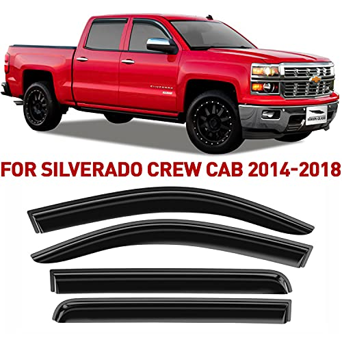 Voron Glass Tape-on Extra Durable Rain Guards for Trucks Chevrolet (Chevy)...