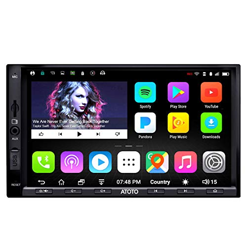 ATOTO A6 Pro A6Y2721PRB 2DIN Android Car Navigation Stereo - Dual Bluetooth w/aptX - Fast Phone Charge/Ultra Preamplifier - in Dash Entertainment Multimedia Radio,WiFi,Support 256G SD &More