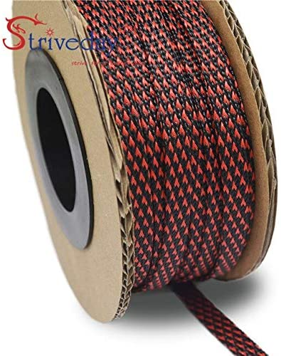 30meters lot 100ft Max 67% OFF Manufacturer OFFicial shop 16mm PET wi Flexo Braided Expandable Sleeving