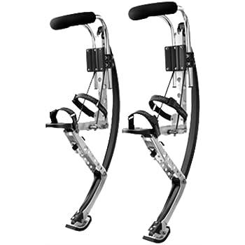 Skyrunner Adult Kangaroo Shoes Jumping Stilts Men Women Fitness Exercise (155~200 Ibs/70~90kg) Bouncing Shoes (Black)