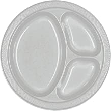 Amscan Sparkle Divided Plastic Tableware