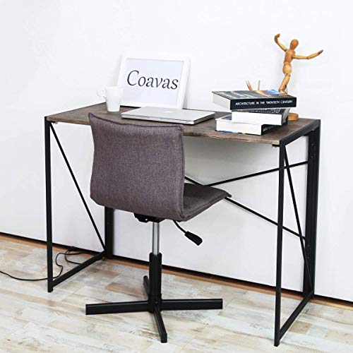 Writing Computer Desk Modern Simple Study Desk Industrial Style Folding Laptop Table for Home Office Brown Notebook Desk
