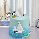 Moderno rollo de papel facial caja de la cubierta del sostenedor, Toalla creativa mediterránea Resina rollo de papel Caso, rollo de papel Organizador for tocador de baño encimeras, aparadores dormitor