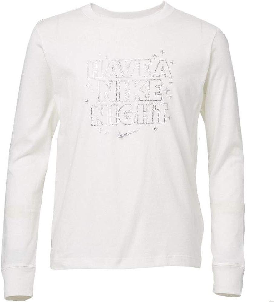 Nike Girls' Sportswear Long Sleeve Shirt Sail Size