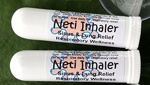 Urban ReLeaf NETI Salt Air Relief INHALERS! Set of Two (2) Sinus & Lung, Himalayan & Botanicals! Respiratory Wellness. Healing Aromatherapy. Energizing! Colds, Asthma, Cough, Bronchitis 100% Natural