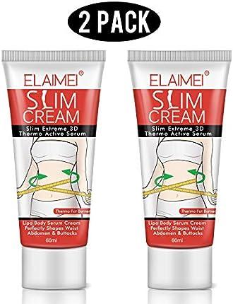 Crema caliente para el sudor, 2 unidades, quemador de grasa, crema adelgazante para vientre, cintura y muslos.