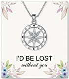 I'd be Lost Without You, Compass Necklace for Women Romantic Gifts for...