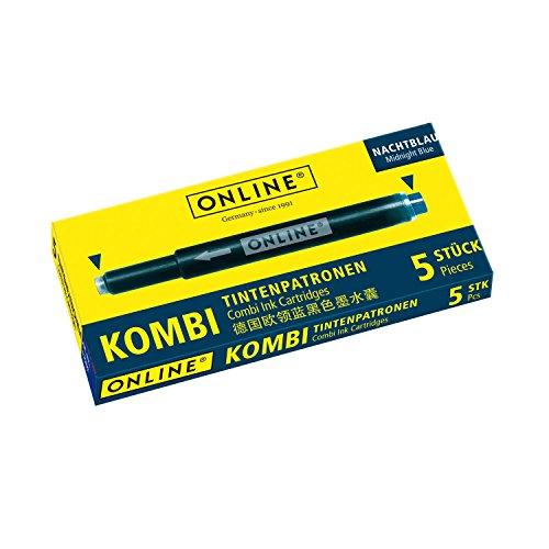 Online Schreibgeräte 17056/12 Kombi-Tintenpatronen Nachtblau