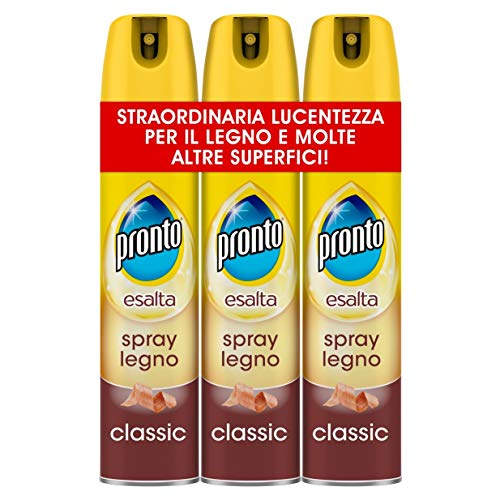 Pronto Detergente Spray Legno, 3 Confezioni da 300ml