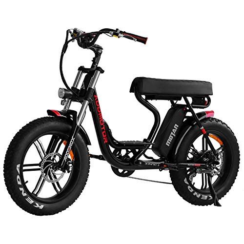Addmotor MOTAN Electric Bike Step Through 20 inch Fat Tire 750W Motor E Bike Removable 11.6Ah Lithium Battery Throttle Pedal Assist M-66 R7 Power Bikes for Adults