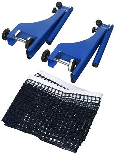 Relaxdays Red Ping Pong, Azul y Negro, 19,2 x 173 x 5 cm Postes de Fijación y Tornillos, Metal y Polietileno