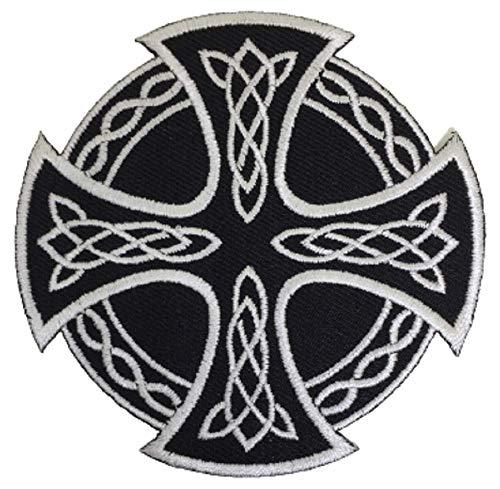XOmise Celtic Cross Irish British Symbol Celtic Knot Embroidered Sew On Iron On Patches