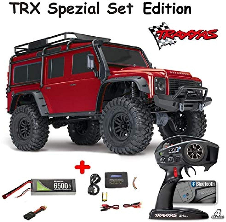 Traxxas TRX4 Crawler Land Rover Rot RTR inkl. Ladegert, 7,4V Lipo Akku Edition Set
