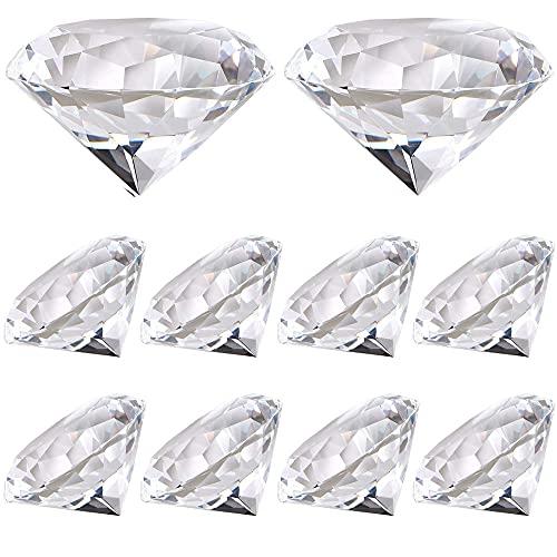 GZGXKJ 10 Pezzi Diamante Sintetico Artificiale Cristallo Pietra Fermacarte per Decorazioni Matrimoni...