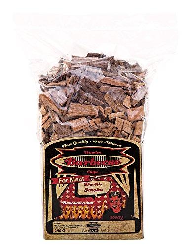 Axtschlag Räucherchips Devil's Smoke, ideale 240 g Probier-Packung, sortenreine Wood Chips für besondere Rauch- und Geschmackserlebnisse, für alle Grills