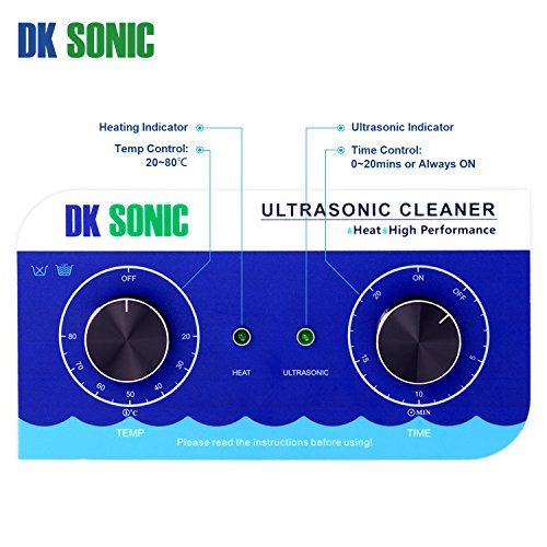 Commercial Ultrasonic Cleaner-DK SONIC 10L 240W Sonic Cleaner with Heater Basket for Jewelry,Ring,Eyeglasses,Denture,Watchband,Coins,Metal Parts,Carburetor,Record,Circuit Board etc