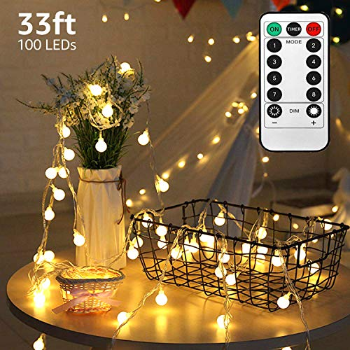 TuoPuLife LED String Lights,33ft 100 Led Waterproof Ball...