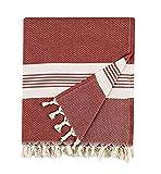 BOHORIA® Natural Home - Colcha extragrande de 200 x 230 cm, 100% algodón, manta para sofá, sillón y cama