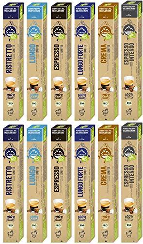 La Natura Lifestyle BIO Kaffee Selection Box - 120 industriell kompostierbare** Kaffeekapseln, Nespresso®* kompatibel