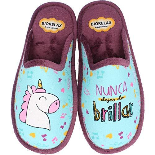 Zapatillas Biorelax Mujer Unicornio - Azul, 37