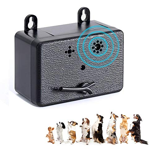 YC° CY Bark Control Device, Automatic Ultrasonic Dog Bark Deterrent Upgrade Outdoor Anti Barking Device Safe Suitable for Dogs